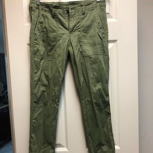Cabi army green traveler pants